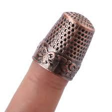 Musterk Hen Fingerhut Fingerschutz Klassische Muster Harte Metall Nähen
