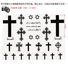 small large black cross waterproof harajuku leg arm chest