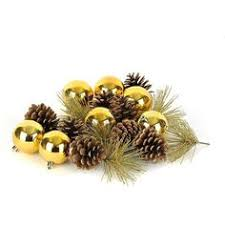 Pine Cone Home Decor Gold Pinecone Ornament 35 Liked On Polyvore Featuring Home