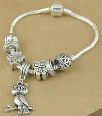 silver bead bracelet diy images Statement owl bracelets antique silver beads unique owl charms jpg