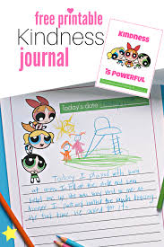 powerpuff girls printable kindness journal no time for flash cards