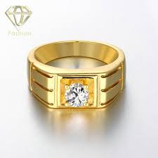 popular cheap gold rings for men buy cheap cheap gold new 2017 fashion jewelry white gold color delicate square aaa