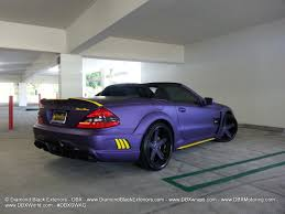 matte purple jeep mercedes benz sl63 wald black bison wrapped in matte metallic