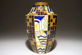 Deco Vase A Geometric Art Deco Vase Maurice Delvaux And Charles Catteau For