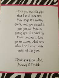 Thank You Letter Notes Samples thank you note for gift kiddo shelter