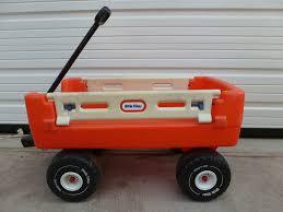 Little Tikes Storage Cabinet Little Tikes Vintage Orange Wagon With White Drop Down Sides My