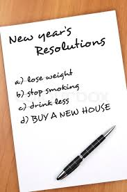 what to buy for new year new year resolution with buy new house not completed stock photo