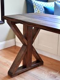 Building A Wooden Desk by Best 25 Diy Table Legs Ideas On Pinterest Farmhouse Lighting