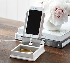 Usb Desk Accessories Mini Charger Catchall With Usb Port Pottery Barn