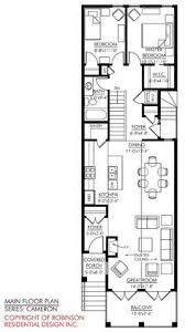 narrow cottage plans stylish plan for a narrow lot hwbdo69203 bungalow house plan