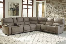 Benchcraft Furniture Power Reclining Sectional With Console By Benchcraft Wolf And