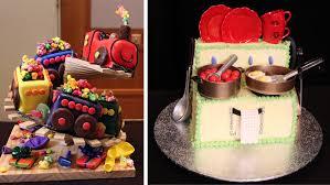 women u0027s weekly children u0027s birthday cake off goes on display abc