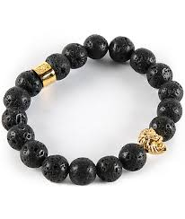 bracelet stone images The gold gods lion lava stone bracelet zumiez jpg
