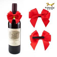 wine bottle bow bottle neck bows wine bottle bow tie decoration ribbon bow for sale