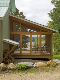 screen porch building plans vermont lake house rustic porch burlington by jean