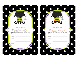 printable halloween birthday invitations u2013 festival collections