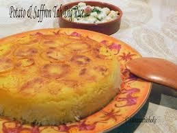 safran cuisine potato saffron tah dig crunchy rice tah dig aux