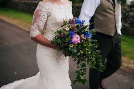 Wedding Flowers Northumberland Tartan Shoes And A Flowerdog For A Homemade Farm Wedding In