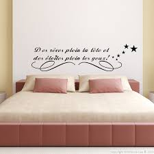 stickers phrase chambre sticker des rêves plein la tête bed room wall decals and room