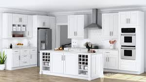 lowes vs home depot cabinet refacing shaker base cabinets in white kitchen the home depot