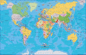 World Map Continents And Countries by Blank World Continents Map