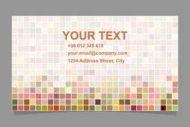 14x2 pixel mosaic business card templat design bundles