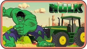 colors kids learn incredible hulk excavator hulk