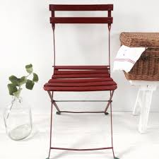 french shabby chic vintage foldable garden paris brasserie chairs