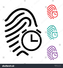 biometric attendance late stock vector 650135812 shutterstock