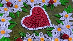 quilling designs making heart shaped greeting card with