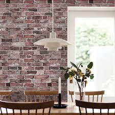 wallpaper designs for dining room brick wallpaper living room design nakicphotography