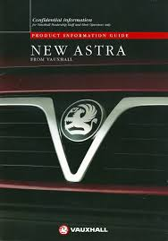 vauxhall t92 astra f confidential dealer launch guides