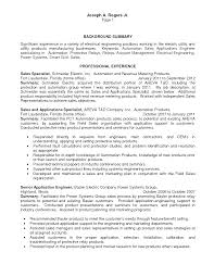 Electrical Engineer Resume Examples Resume Application Engineer Resume
