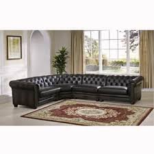 Gray Leather Sectional Sofa Grey Leather Sectional Sofas For Less Overstock Com
