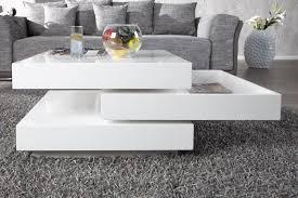 objets deco maison 16 table basse carrée pivotante blanc laqué