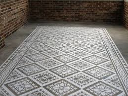 Decorative Floor Painting Ideas Beautiful Concrete Carpets Created By Artisans Using Modello