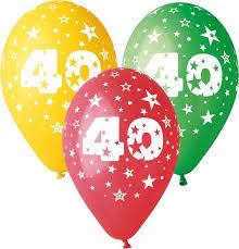 palloncini clipart articoli feste compleanno palloncini 40 anni happy shop