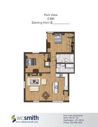 two bedroom floor plan park vista in southeast washington dc
