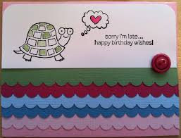 turtle belated birthday card love allyn