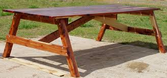 Wood Picnic Table Plans Free by How To Build A Picnic Table And 6 Benches