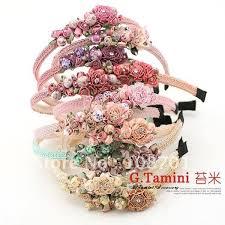handmade hair handmade japan style hair accessories satin fabric flowers