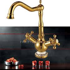 High End Rotate Polished Brass Kitchen Sink Faucets - Brass kitchen sink