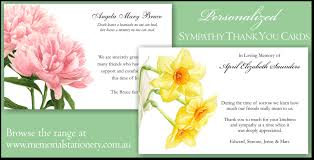 thank you for sympathy card new sympathy funeral thank you cards personalized memorial