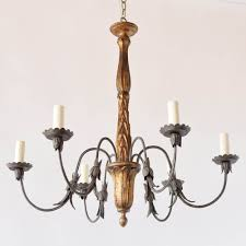 Iron And Wood Chandelier Florentine Wood Iron Chandelier The Big Chandelier