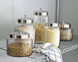kitchen glass canisters cool kitchen storage ideas