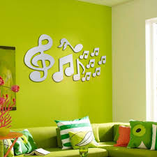 compare prices on music notes wall art online shopping buy low 10pcs music notes mirror removable decal art mural wall sticker home room decor silver china