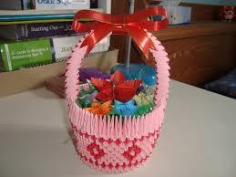 Origami 3d Flower Vase Paper Flower Basket Http Lomets Com