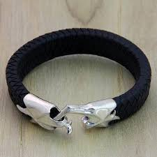 leather bracelet images Men 39 s braided leather bracelet hand in hand novica jpg