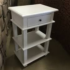 Nightstand With Shelves Side Table With Two Shelves Nadeau Miami