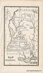 Map Of Ms Map Of Mississippi Antique Maps And Charts U2013 Original Vintage